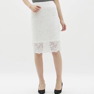 GU - レースタイトスカート オフホワイト