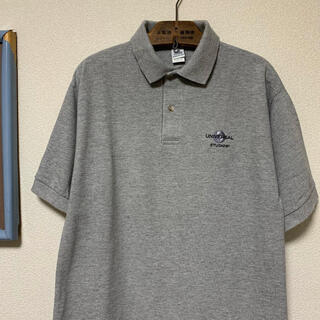ART VINTAGE - 90s UNIVERSAL STUDIOS ポロシャツ USJ グレー USA製