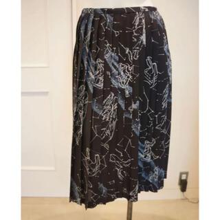 ケイタマルヤマ(KEITA MARUYAMA TOKYO PARIS)のケイタマルヤマ 星座柄プリーツスカート(ひざ丈スカート)