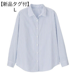 ジーユー(GU)のgu  2WAYストライプオーバーサイズシャツ(長袖)(シャツ/ブラウス(長袖/七分))