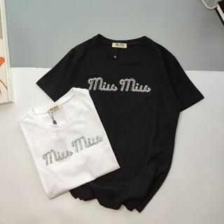 miumiu - miumiu 半袖のtシャツ-z02