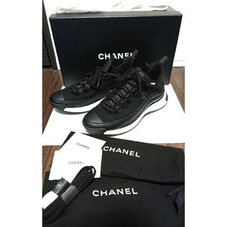 CHANEL - 極美品 国内正規 付属品完備 シャネル マトラッセ スニーカー 42 黒