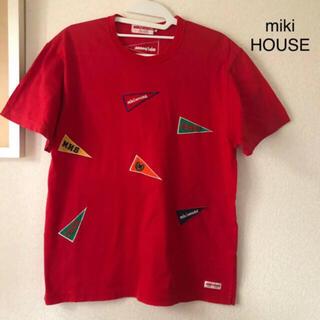 mikihouse - ミキハウス メンズ 半袖Tシャツ Mサイズ レッド レトロ