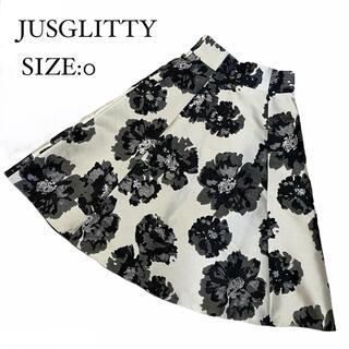 JUSGLITTY - JUSGLITTY ジャスグリッティー スカート 大判 花柄 ジャガード