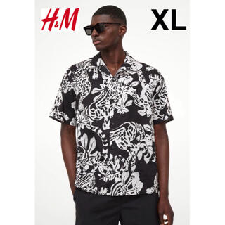 H&M - 新品 安値 H&M タイガー 虎柄 アロハ シャツ XL