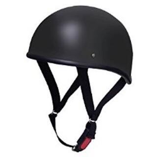 ★即日発送★ バイク 半ヘルメット 艶消し ブラック FREE 他サイズ有(ヘルメット/シールド)