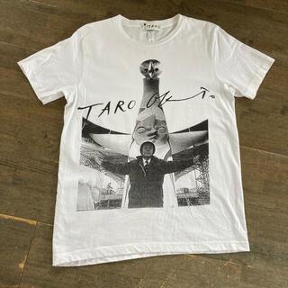 岡本太郎 Tシャツ taro okamoto Tシャツ フォト アート 太陽の塔