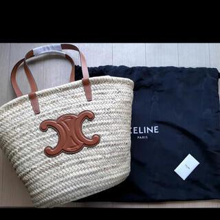 セリーヌ(celine)のCELINE トリオンフ  ラフィア & カーフスキン(かごバッグ/ストローバッグ)