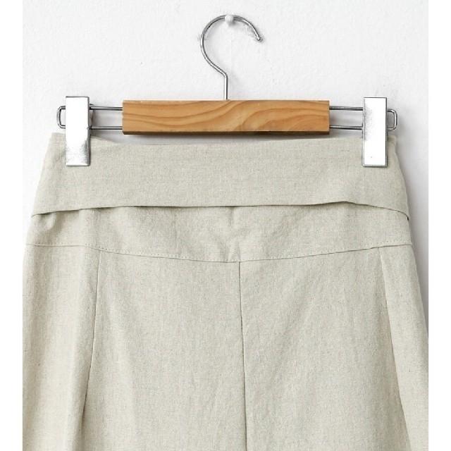 dholic(ディーホリック)のhanadako_gardenさん着用 dholic リネン混ラップワイドパンツ レディースのパンツ(カジュアルパンツ)の商品写真