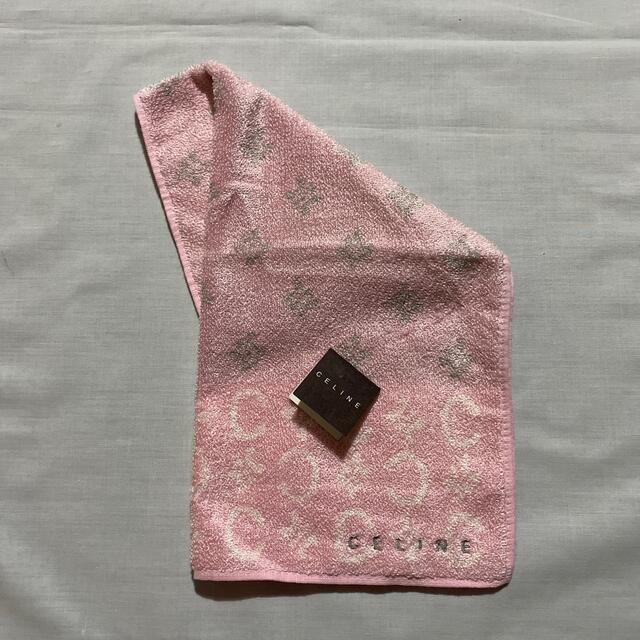 celine(セリーヌ)のセリーヌ タオルハンカチ 未使用品やや難あり マカダム柄 #873 レディースのファッション小物(ハンカチ)の商品写真