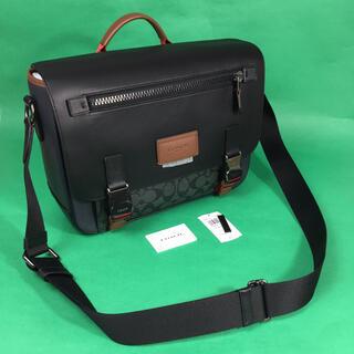COACH - COACH メンズ メッセンジャー カラー シグネチャー ショルダーバッグ