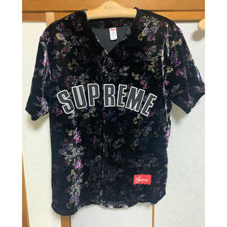 Supreme - Supreme Floral Velour Baseball Jersey