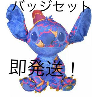 Disney - スティッチ アラジン ピンバッジ  ぬいぐるみ 6月 ディズニーストア 限定