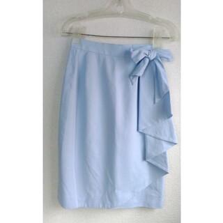 クレージュ(Courreges)のクレージュの水色のラップスカート(ひざ丈スカート)