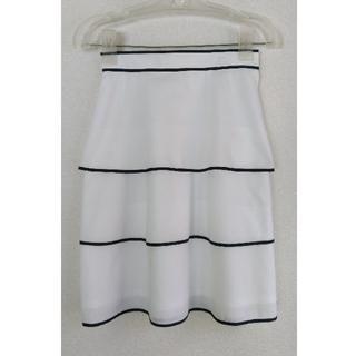 クレージュ(Courreges)のクレージュの白のティアードスカート(ひざ丈スカート)