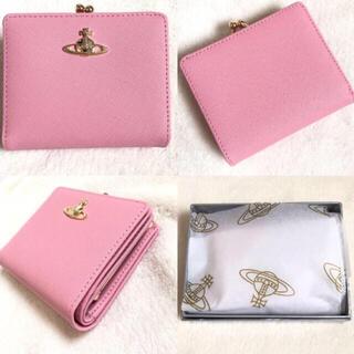 Vivienne Westwood - 未使用☆ ヴィヴィアンウエストウッドVivienneレザーピンク2つ折り財布