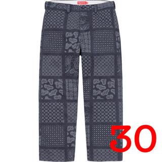 Supreme - 新品 supreme paisley grid chino pant 30 S