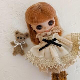 dollnodoll 小さなくまちゃん ブライスのお友達に♡ モールドール(ぬいぐるみ)