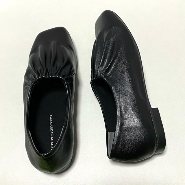 GALLARDA GALANTE(ガリャルダガランテ)の新品 GALLARDAGALANTE ギャザースリッポン フラットシューズ レディースの靴/シューズ(スリッポン/モカシン)の商品写真