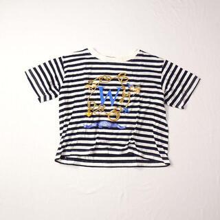 Max Mara マックスマーラ ボーダー Tシャツ ロゴ(Tシャツ(半袖/袖なし))