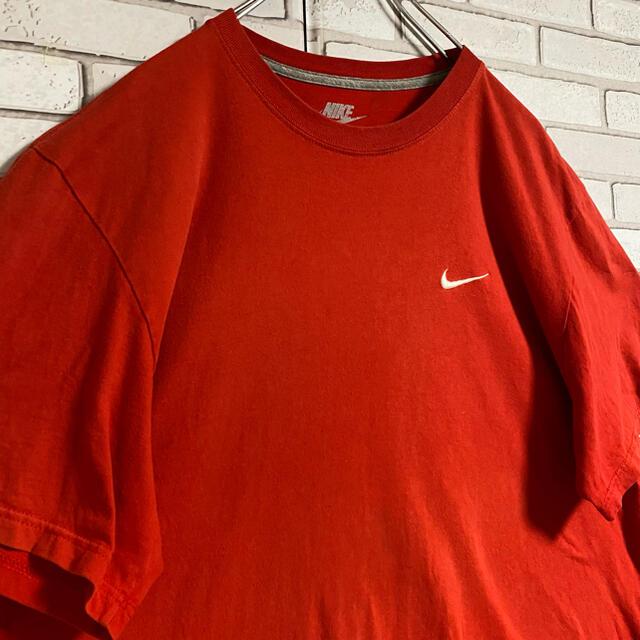 NIKE(ナイキ)の90s 古着 ナイキ Tシャツ 刺繍 スウォッシュロゴ ビッグシルエット メンズのトップス(Tシャツ/カットソー(半袖/袖なし))の商品写真