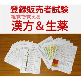 【ラミネートなし】登録販売者試験 視覚で覚える漢方・生薬暗記セット