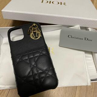 クリスチャンディオール(Christian Dior)のlady dior iPhone11proケース レディディオール ブラック 黒(iPhoneケース)