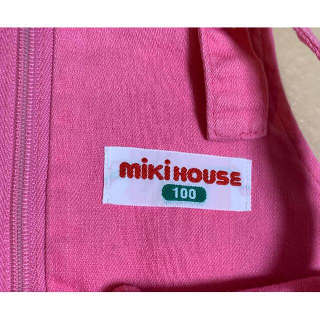 mikihouse(ミキハウス)の【匿名配送】MIKIHOUSE ジャンパースカート ピンク お花 刺繍 100 キッズ/ベビー/マタニティのキッズ服女の子用(90cm~)(ワンピース)の商品写真