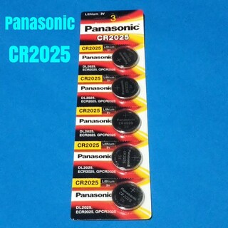 パナソニック CR2025  5個 リチウム ボタン 電池