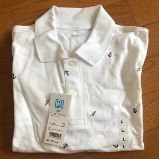 ユニクロ(UNIQLO)の【新品未使用】UNIQLO ドライカノコ プリントポロシャツ Lサイズ(ポロシャツ)