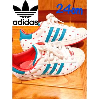 adidas - adidas アディダス スーパースターハート スニーカー レディース