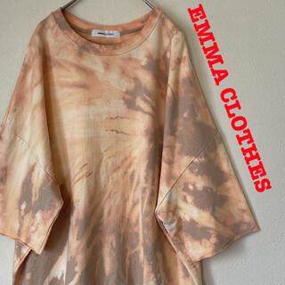 EMMA CLOTHES エマクローズ 半袖スウェット リメイク ブリーチ加工