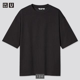 UNIQLO - エアリズムコットンオーバーサイズTシャツ(5分袖)