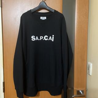 sacai - 希少 新品『sacai』×『A.P.C』21S/Sコラボロゴスウェット サカイ