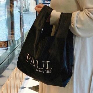 PAUL ポール エコバッグ パン 黒 ブラック
