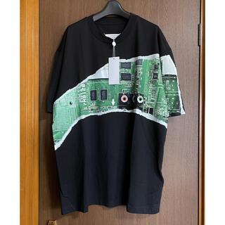 マルタンマルジェラ(Maison Martin Margiela)の黒48新品 メゾン マルジェラ オーバーサイズ Mother  Tシャツ メンズ(Tシャツ/カットソー(半袖/袖なし))