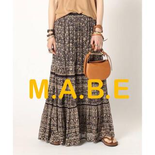 DEUXIEME CLASSE - MUSE【M.A.B.E/メイブ】 プリントマキシスカート