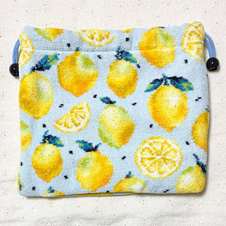 FEILER - フェイラー マチ付き巾着L レモンドット
