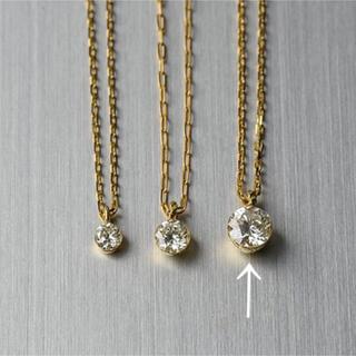 agete - 【美品】agete アガット 0.2ct ダイヤモンド ネックレス