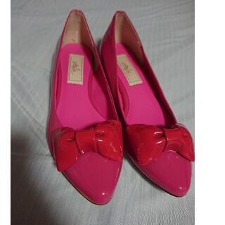 Juze - 日本製 パンプス リボン 春 ピンク かわいい juze ジュゼ Sサイズ S
