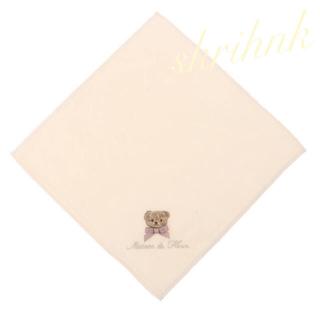 メゾンドフルール(Maison de FLEUR)の限定♡メゾンドフルール♡クマ刺繍タオルハンカチ♡今治♡ベア♡くま♡アンクルージュ(ハンカチ)