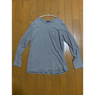 ピースマイナスワン(PEACEMINUSONE)のpragmatic ボーダーロンT サイズ2(Tシャツ/カットソー(七分/長袖))