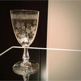 Baccarat - 極希少 オールドバカラ アシッド グラヴュール  ワイングラス 1脚