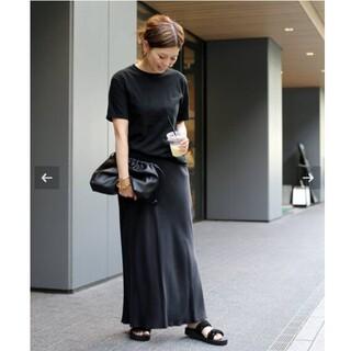 DEUXIEME CLASSE - 《美品》Deuxieme ClasseCu/R マキシスカート ブラック