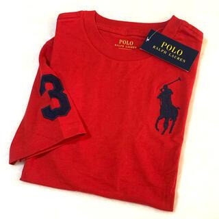 POLO RALPH LAUREN - 7/130 新品 ビッグポニー×ナンバリング コットンTシャツ / レッド