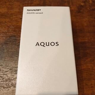 シャープ(SHARP)のAQUOS sense4 SIMフリー 新品 黒(スマートフォン本体)
