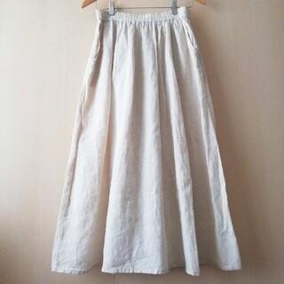MUJI (無印良品) - 無印良品 リネン100%スカート