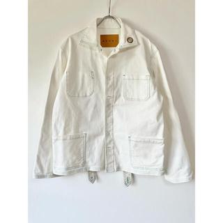 マルニ(Marni)のMARNI マルニ デニムジャケット 白 ホワイト メンズ(Gジャン/デニムジャケット)