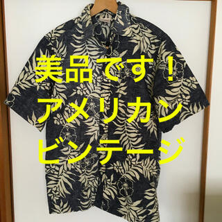 美品です!アメリカン ビンテージ 古着 ボタニカル柄 コットンシャツ (シャツ)