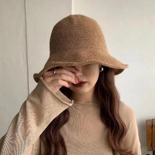 【新品未使用】Amiur soft straw hat ストローハット(麦わら帽子/ストローハット)
